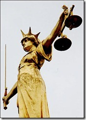 Statue of Justice at the Central Criminal Court