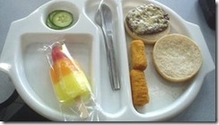 A typical school dinner