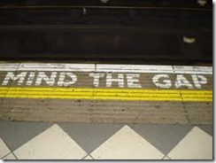 Mind the gap markings
