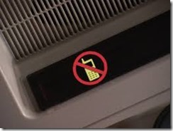 No mobile phones sign